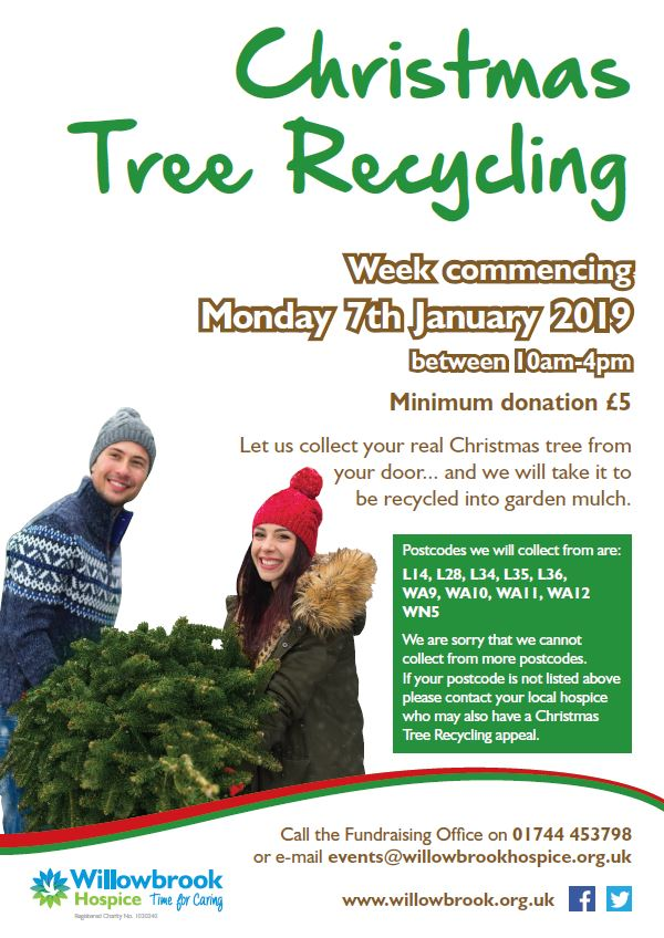 Recycle your Christmas Tree with Willowbrook Hospice   Knowsley Chamber